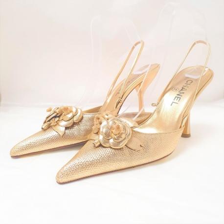 Zapatos Chanel camelia