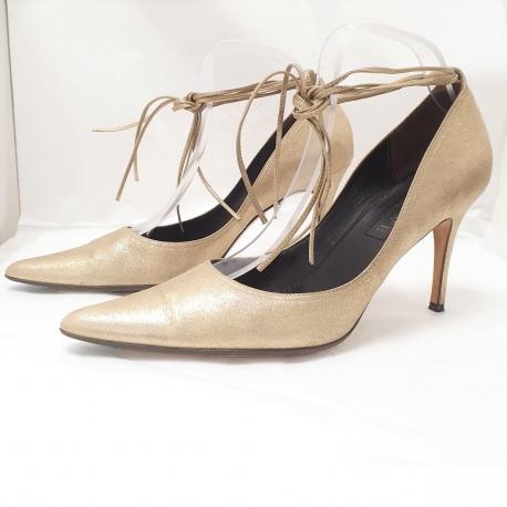 Zapatos Loewe Dorados