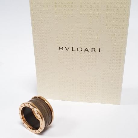 Sortija Bulgari B.Zero 1 oro y ceramica
