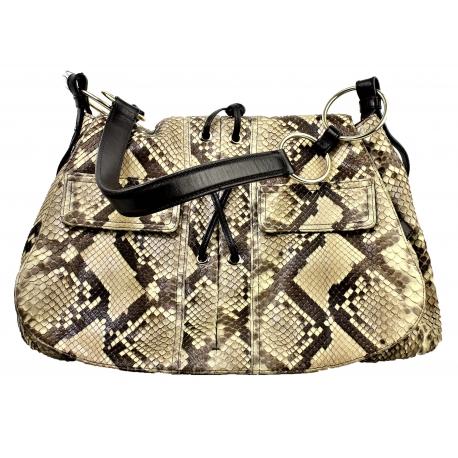 Yves Saint Laurent Python Saharienne Shoulder Bag