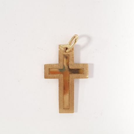 Colgante cruz oro
