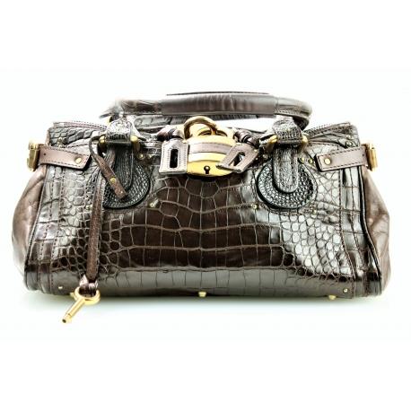 Chloe Paddington Crocodile Handbag