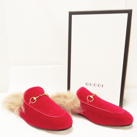 Zuecos Gucci Velvet Princetown