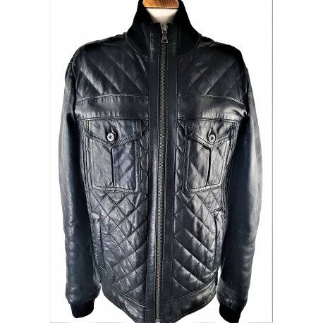 Dolce Gabbana. Black Leather Jacket