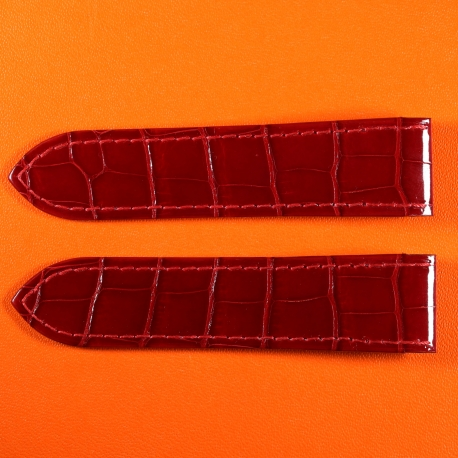 Cartier Santos KD95XR04 23mm Leather Bracelet