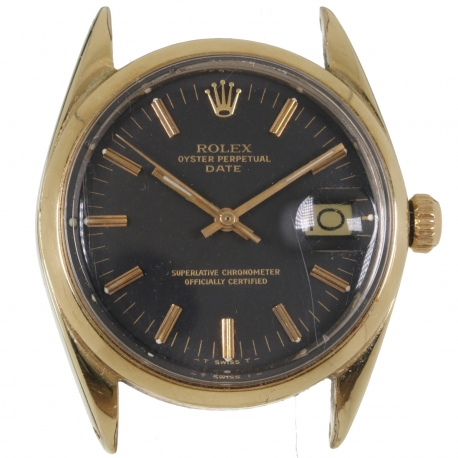 Rolex Date Gold Plated Black Dial 1967