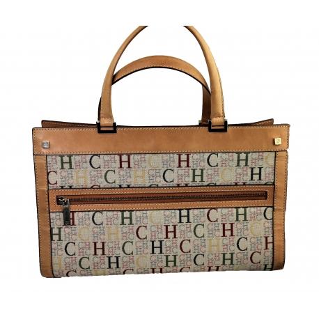 Carolina Herrera bag with leather top handles