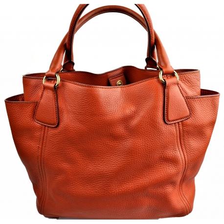 Prada Handbag Orange Leather
