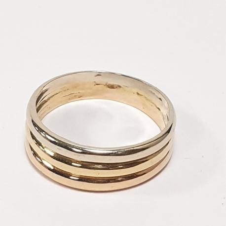 Sortija 3 tonos de oro