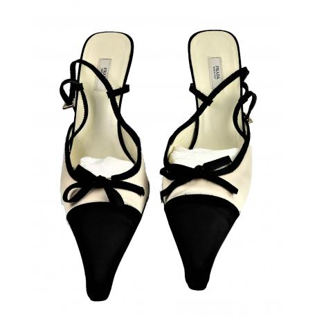 Prada slingback satin shoes