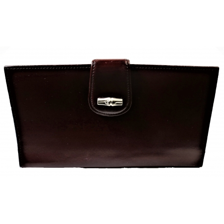 Monedero Longchamp burdeos