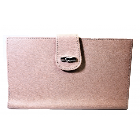 Beige Longchamp wallet