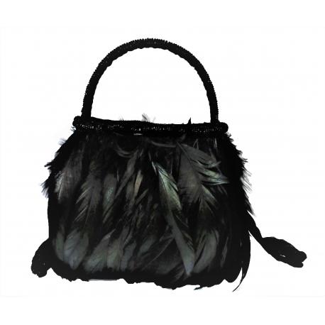 211 / 5000 Resultados de traducción Valentino evening bag made of feathers