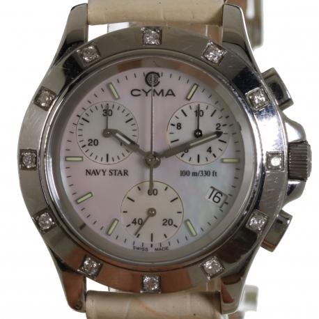 Cyma Navy Star Cronografo Diamantes Sra