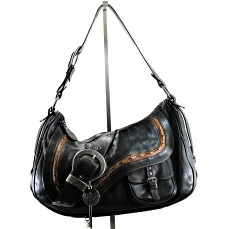Dior Bolso Gaucho Negro