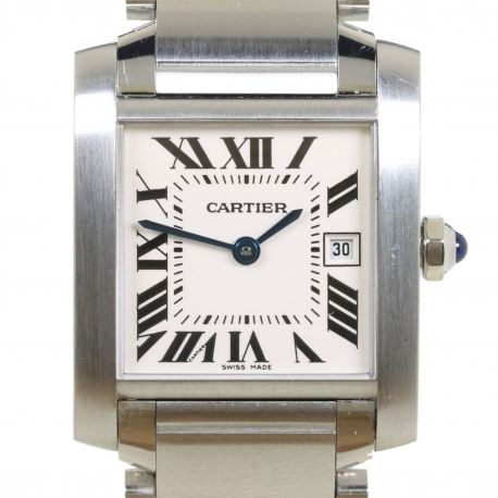 Cartier Tank Francaise ref 2485 Stainless Steel