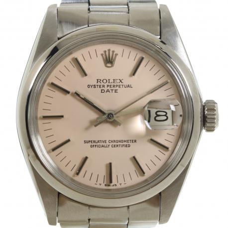 Rolex Date 1500 Esfera Rosa 1971