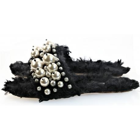 Piel de oveja ecológica Miu Miu con adorno de perlas