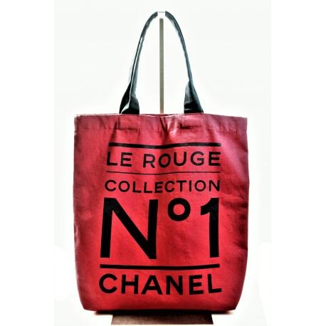 Bolsa Roja Chanel Tela