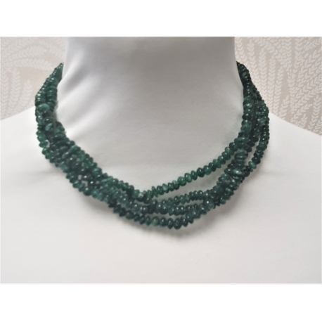 Collar bisuteria piedras verdes