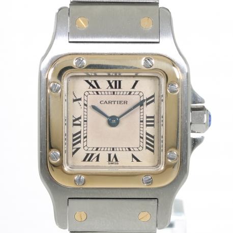 Cartier Santos Galbee 24mm Gold Steel