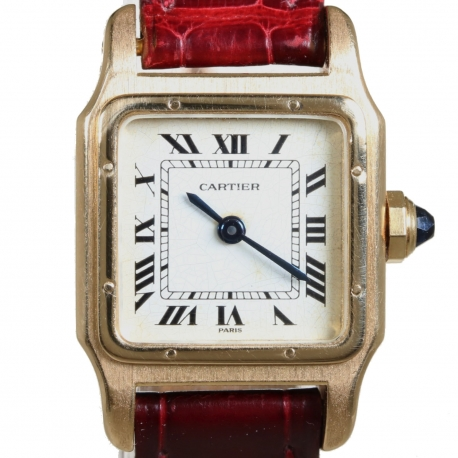 Cartier Santos Dumint Ladies Gold 18kt