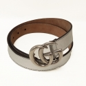 Gucci Double G silver tone belt