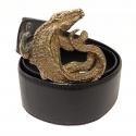 Donini Crocodile Buckle Belt