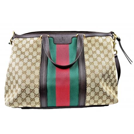 Gucci handbag monogram canvas