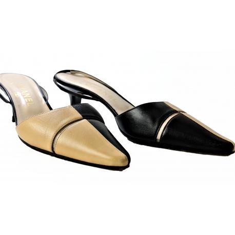 Chanel zapatos bicolor