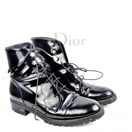Botines Dior en charol negro