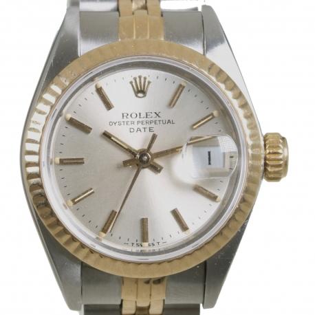 Rolex Date Ladies Steel & Gold ref 69173